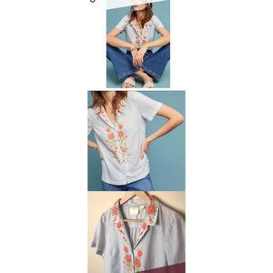 MAEVE by ANTHROPOLOGIE Embroidery Christie Blouse